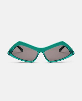 Stella McCartney green rectangular sunglasses