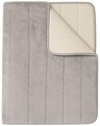 Heritage Madeline Memory Foam Bath Stripe Mat in Chateau Grey