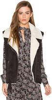 Dolce Vita Maelle Faux Fur Vest in Charcoal