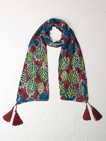 White Stuff Dancing leaves scarf