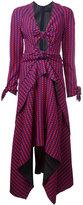 Proenza Schouler knot front midi dress - women - Silk/Viscose - 4
