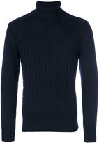 Eleventy textured turtleneck sweater - men - Virgin Wool - S