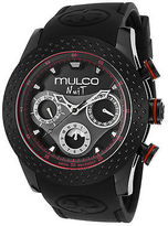 Mulco MW51962261 Men's Nuit Multi-Function Black Silicone and Dial Red Case