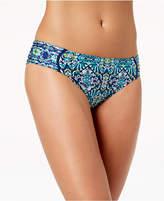 LaBlanca La Blanca Tuvalua Tapa Printed Shirred Bikini Bottoms