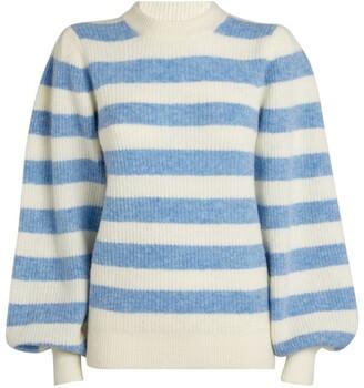Ganni Heather Striped Sweater