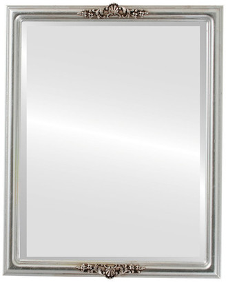 """The Oval And Round Mirror Store Contessa Framed Rectangle Mirror in Silver Leaf w/ Brown Antique, 19""""x"""