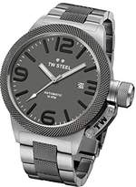TW Steel Men's Quartz Watch with Grey Dial Analogue Display and Silver Stainless Steel Plated Bracelet CB202