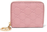 Gucci Icon Embossed Leather Wallet - Pastel pink