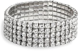 CRISTABELLE Layered Crystal Stretch Bracelet