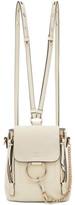 Chloé Off-white Mini Faye Backpack