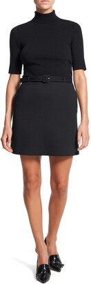 Theory Belted Short Sleeve Dress