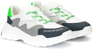 Emporio Armani Kids Colour Block Sneakers