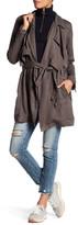 BLANKNYC Denim Draped Trench Coat