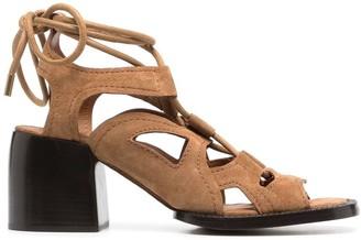 Chloé Gaile lace-up sandals