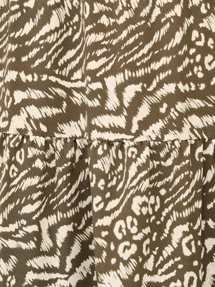 Very Tiered Printed Midi Dress - Print