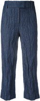 Dondup cropped pants - women - Cotton/Metal (Other) - 38