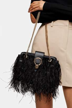 Topshop FEST Black Cross Body Bag