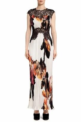 Costarellos Marion Floral Cap Sleeve Empire Gown