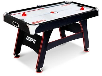 5' Two Player Air Hockey Table with Digital Scoreboard and Lights ESPN