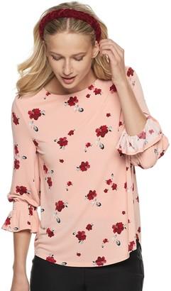 Elle Women's 3/4 Bell Sleeve Top