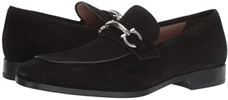 Salvatore Ferragamo Benford Bit Loafer (Black Suede) Men's Shoes