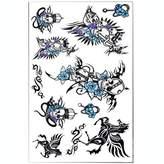 Panda Superstore Set of 3 Fashion Cool Skull&Pegasus Body Tattoo Stickers Sweat Temporary Tattoos