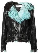 Marques Almeida Marques'almeida fitted fur biker jacket