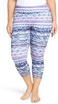 Zella Plus Size Women's Print Crop Leggings