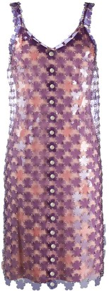 Paco Rabanne Paillette-Embellished Shift Dress