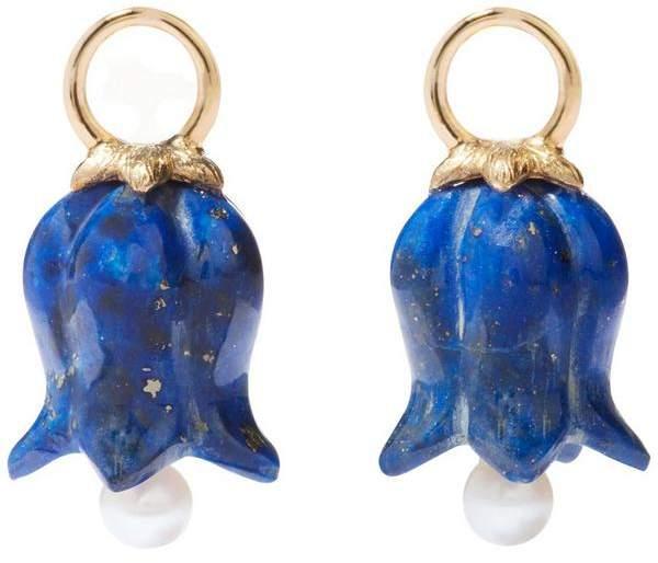 Lapis Annoushka 18Ct Gold Lazuli And Pearl Tulip Earring Drops