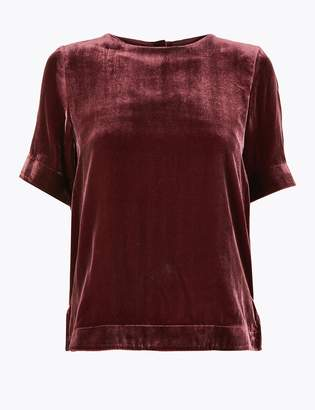 AutographMarks and Spencer Velvet Relaxed Fit T-Shirt