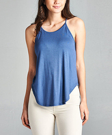 Denim Blue Halter Camisole