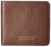 Scotch & Soda Leather Wallet with Zip and Pocket in Back