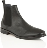 Frank Wright Black Leather 'omar' Chelsea Boots