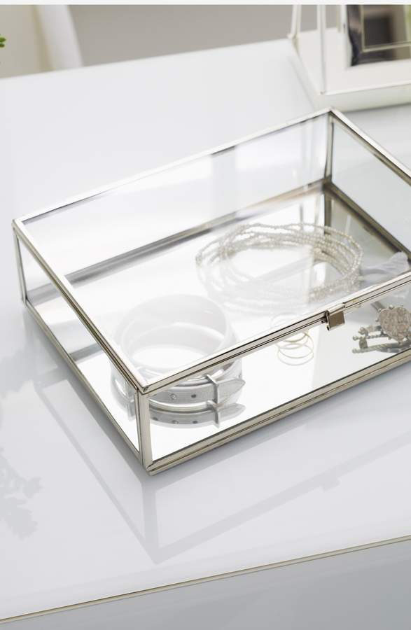 The White Company Large Glass Trinket Box