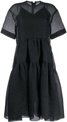 Victoria Victoria Beckham Sheer Flared Dress