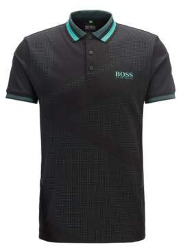 Slim-fit golf polo shirt with contrast details