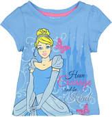 Children's Apparel Network Disney Princess Cinderella Blue 'Have Courage' Tee - Toddler