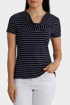 Essential Stripe Cowl Neck Short Sleeve Tee