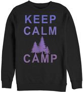 Chin Up Apparel Men's Tee Shirts BLACK - Black 'Keep Calm Camp' Fleece Pullover - Men