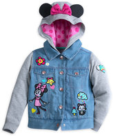 Disney Minnie Mouse and Figaro Denim Hoodie for Girls