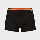 Paul Smith Men's Black Low-Rise Boxer Briefs With 'Artist Stripe' Waistband