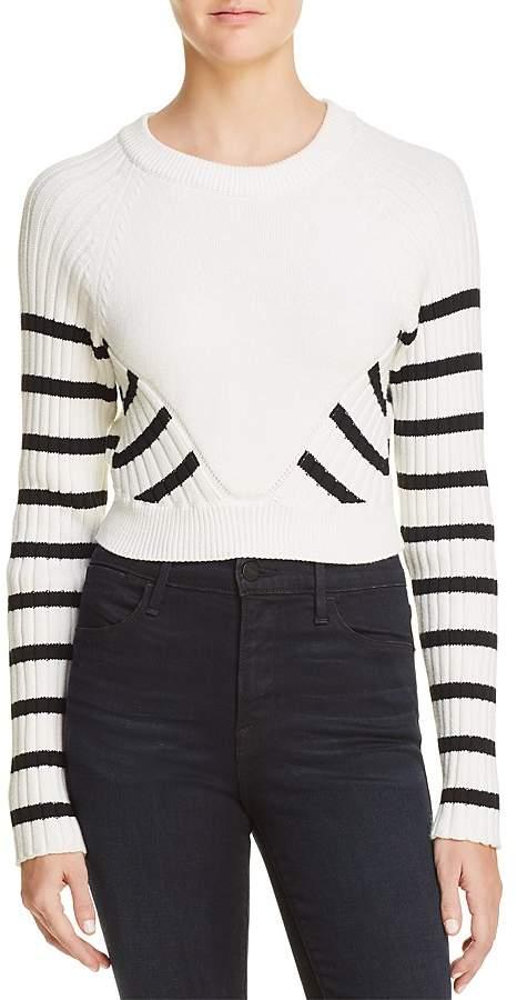 Alexander Wang Striped Crop Sweater