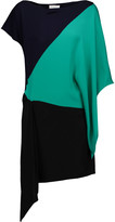 Vionnet Draped color-block crepe and silk tunic
