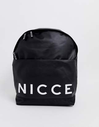 Nicce backpack with large logo-Black