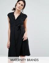 Mama Licious Mama.licious Mamalicious Sleeveless Belted Dress
