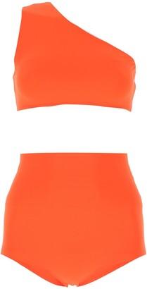 Bottega Veneta One Shoulder Jersey Two-Piece Bikini