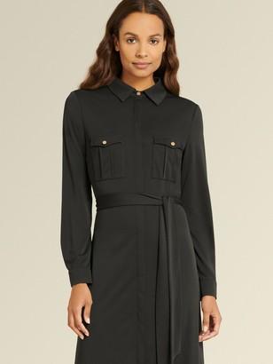 DKNY Donna Karan Women's Long Sleeve Maxi Dress - Black - Size 14