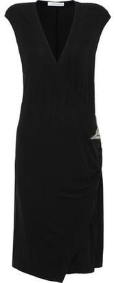 Pierre Balmain Wrap-effect Appliqued Cady Dress