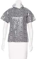 Jil Sander Floral Print Short Sleeve Top